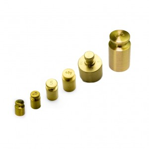 M1 Solid Brass Test Weights 1g 50g